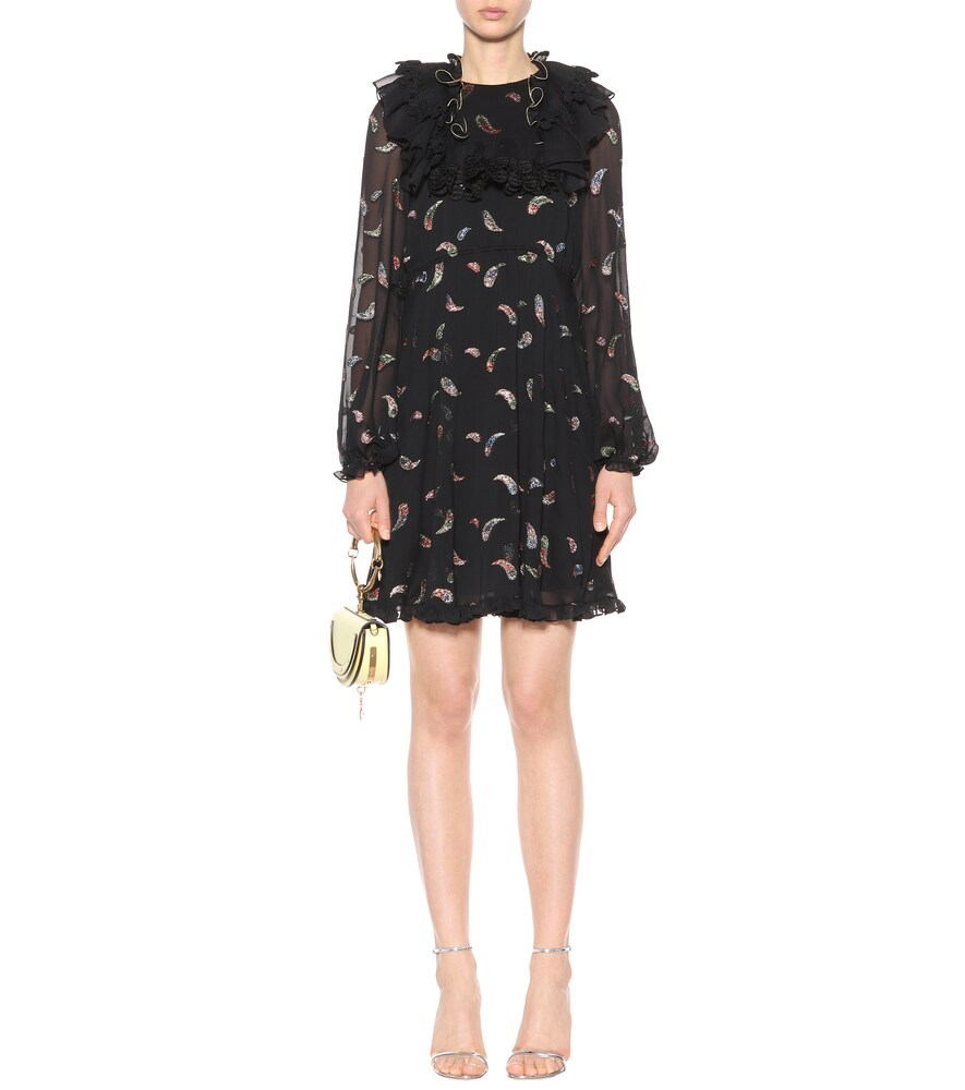 Silk-blend fil coupé dress by Chloé