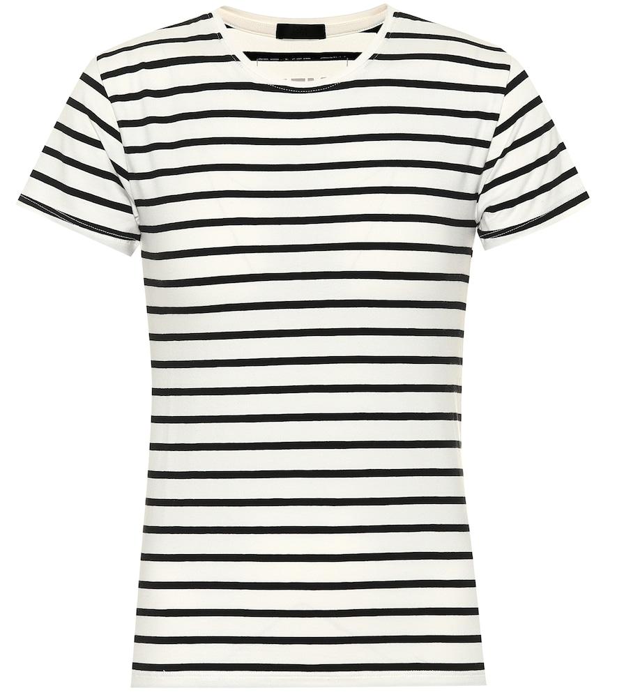 T-shirt marinière en coton stretch