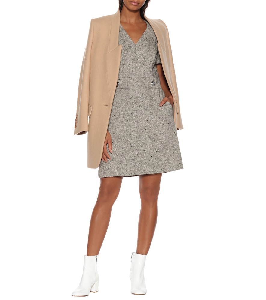 Priscilla linen-wool blend dress by Tory Burch