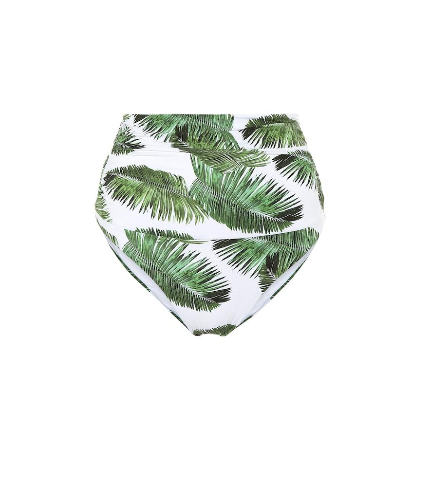 Culotte de bikini Caribe imprimée à taille haute