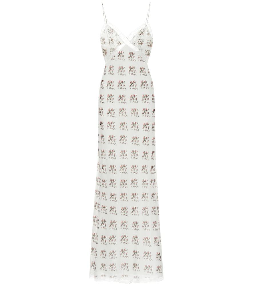 Rita floral cotton and silk maxi dress
