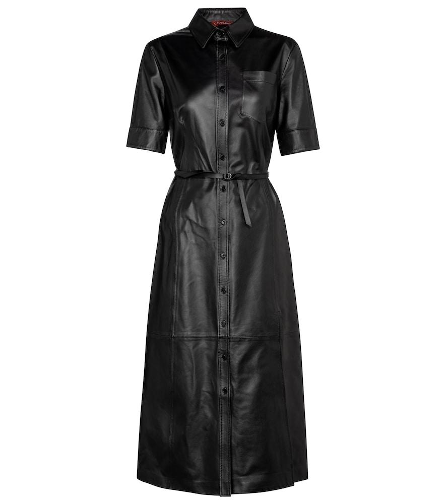 Kura leather shirt dress by Altuzarra