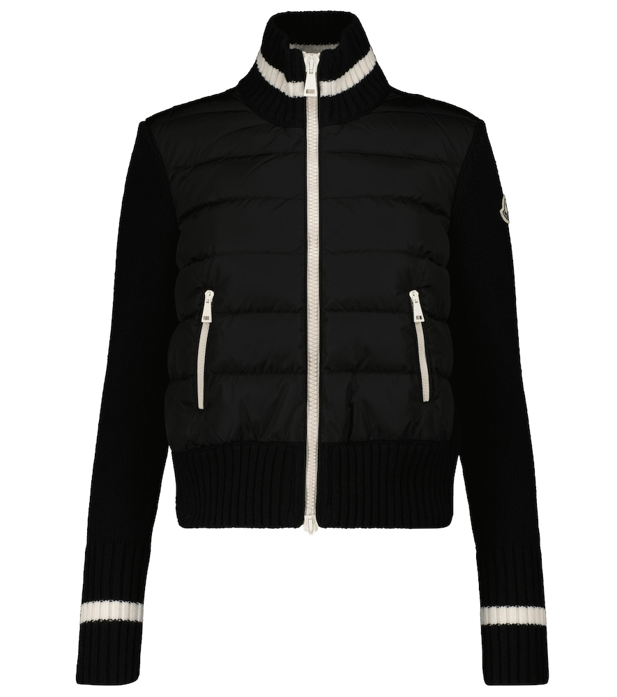 Wool and down-paneled jacket