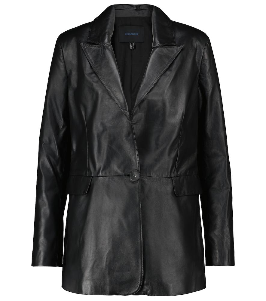 Aria leather blazer