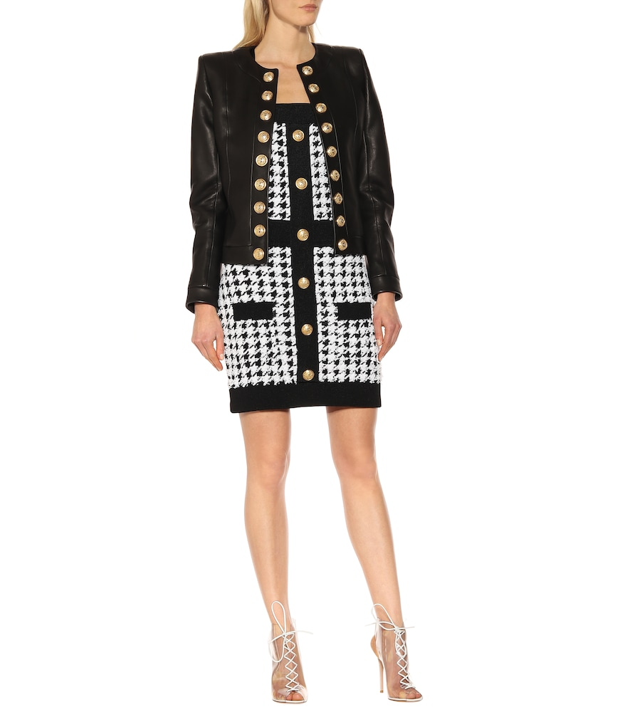 Houndstooth knit minidress by Balmain