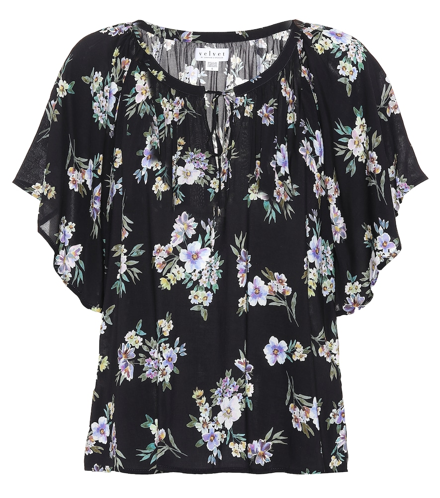 Delmis printed top