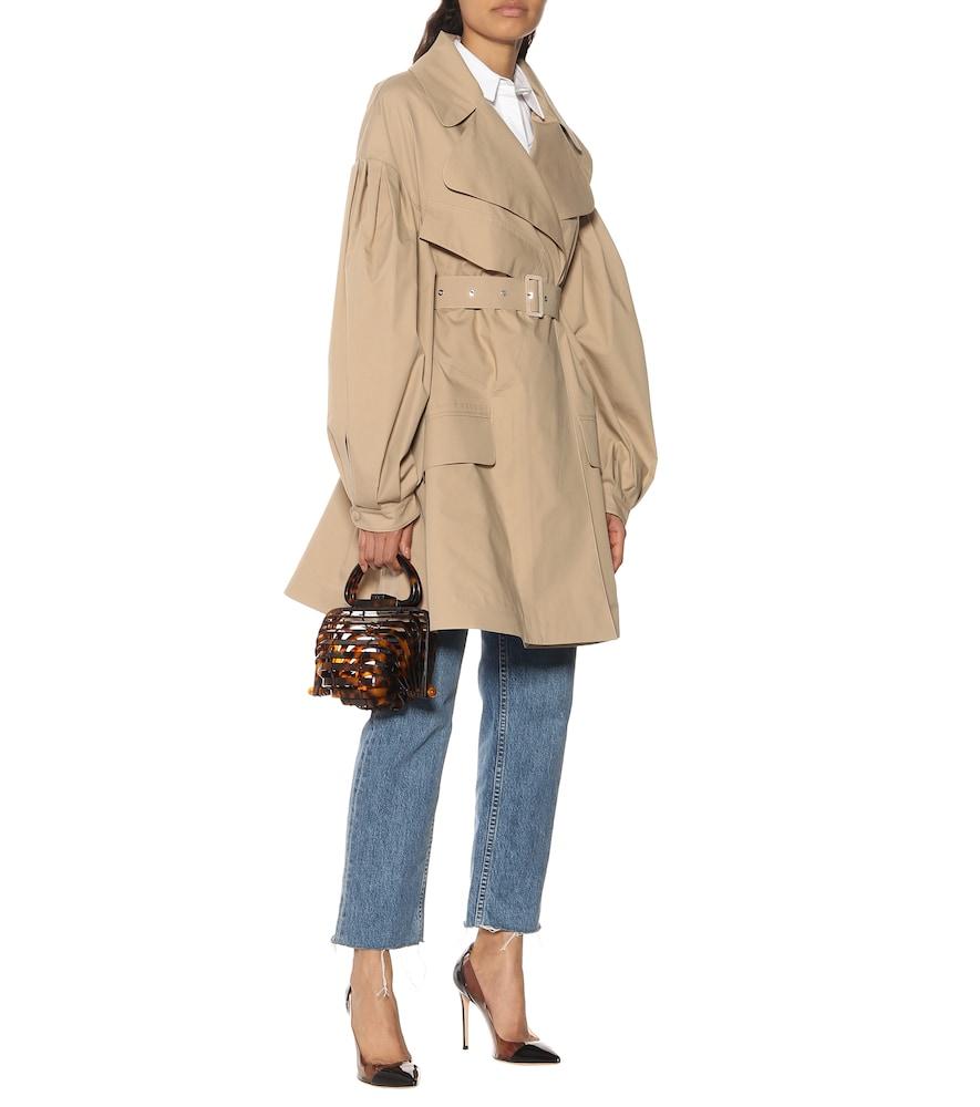 4 MONCLER SIMONE ROCHA cotton gabardine trench coat by Moncler Genius