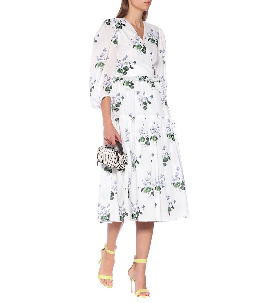 Floral cotton midi wrap dress by Les Rêveries