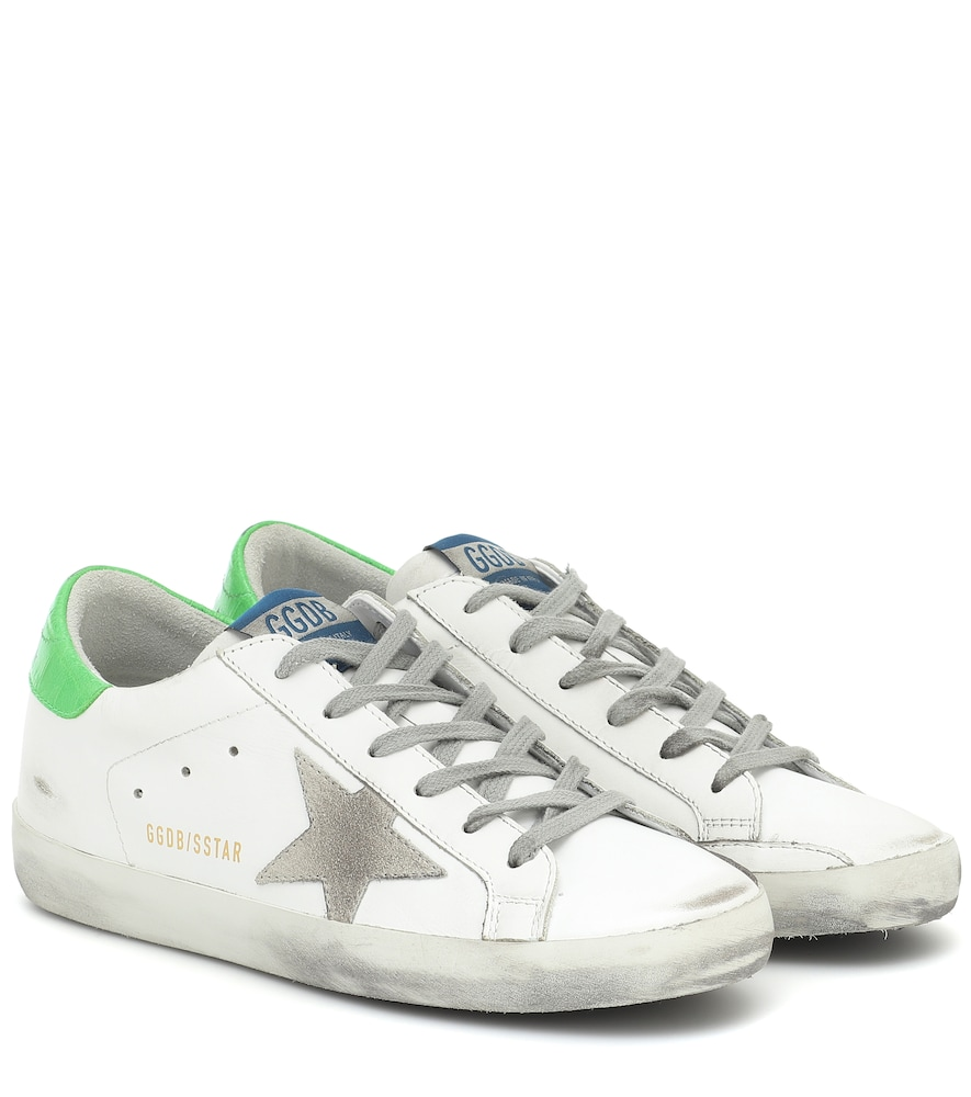Exclusive to Mytheresa - Superstar neon leather sneakers