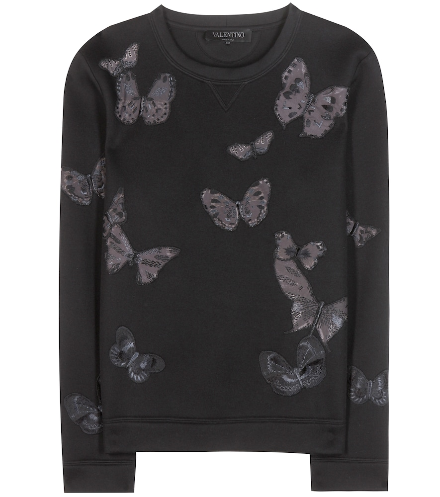 Embroidered sweatshirt with appliqué