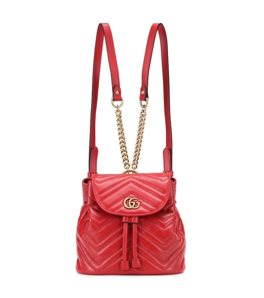 c605a3c99 Gucci Gg Marmont 2.0 Matelasse Leather Mini Backpack - Red In 6433 Hibis Red
