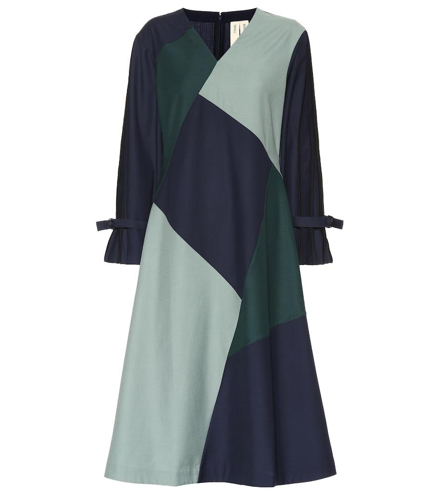 BODICE STUDIO Wool-Blend Midi Dress in Multicoloured
