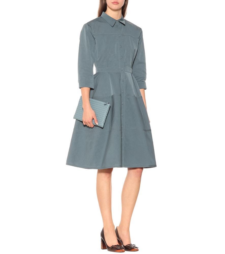 Cotton and silk-blend dress by Bottega Veneta