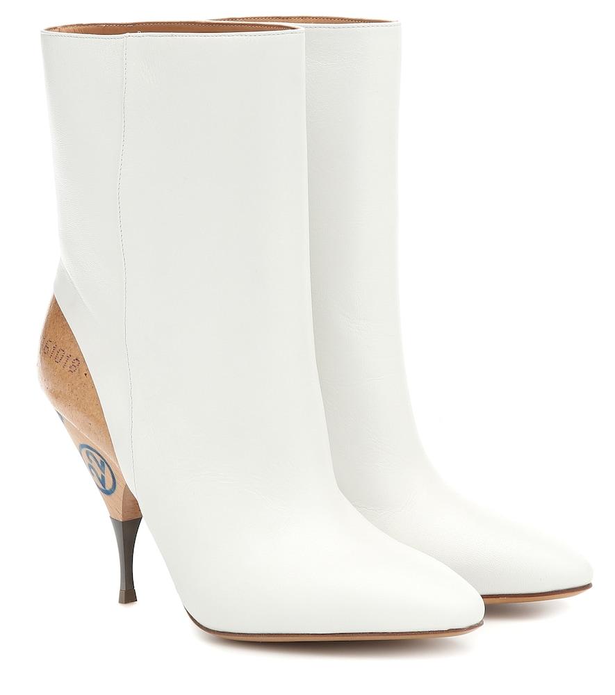 MAISON MARGIELA   Leather ankle boots   Goxip