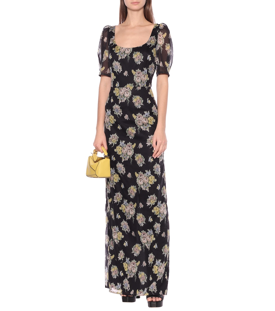 Quanica floral cotton maxi dress by Brock Collection