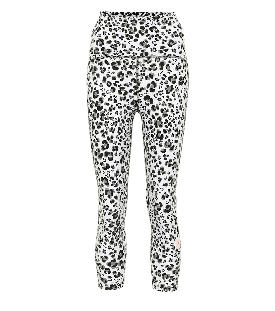 Adidas By Stella Mccartney TRUEPURPOSE LEOPARD-PRINT LEGGINGS