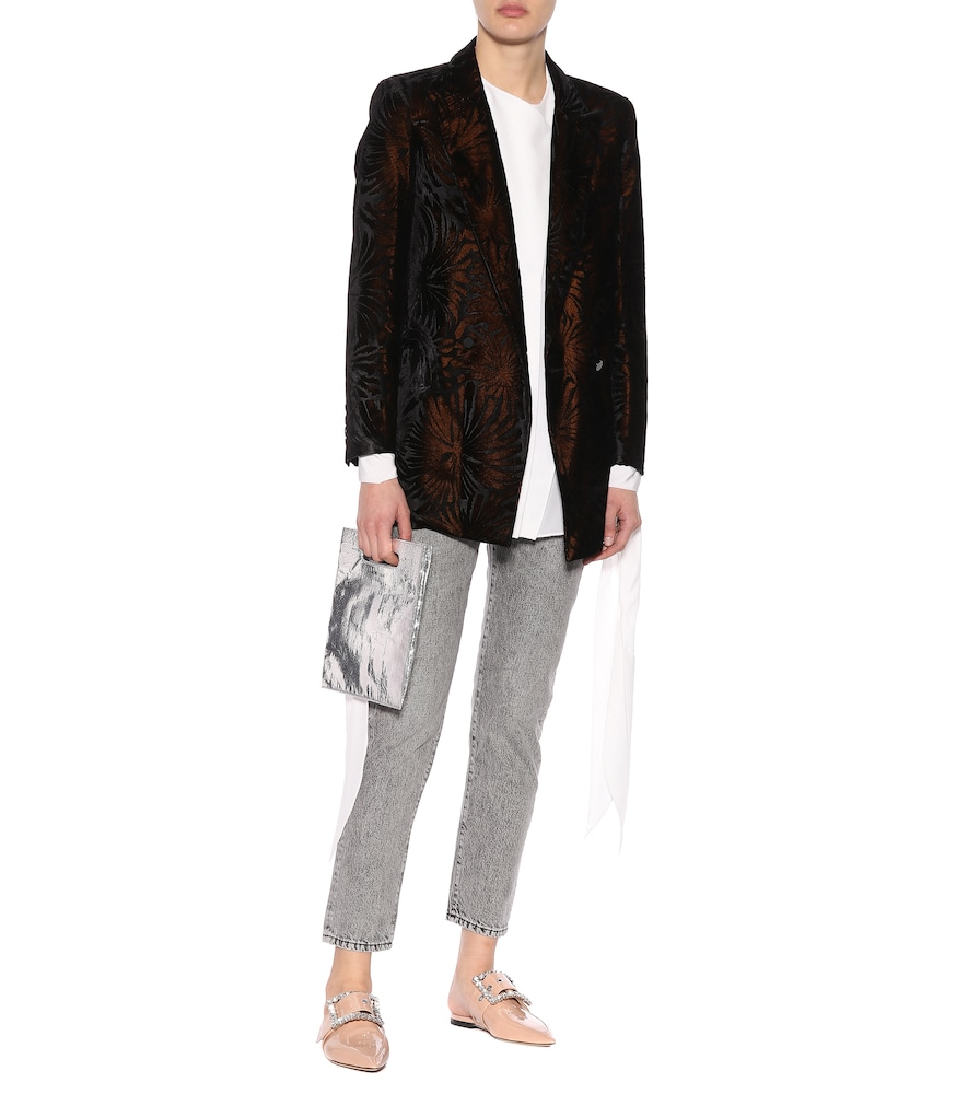 Everyday flocked velvet blazer by Blazé Milano