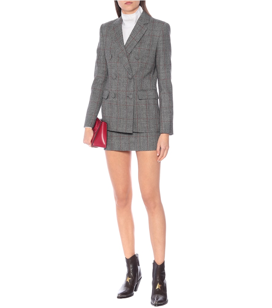 Prince of Wales checked wool blazer by Helmut Lang