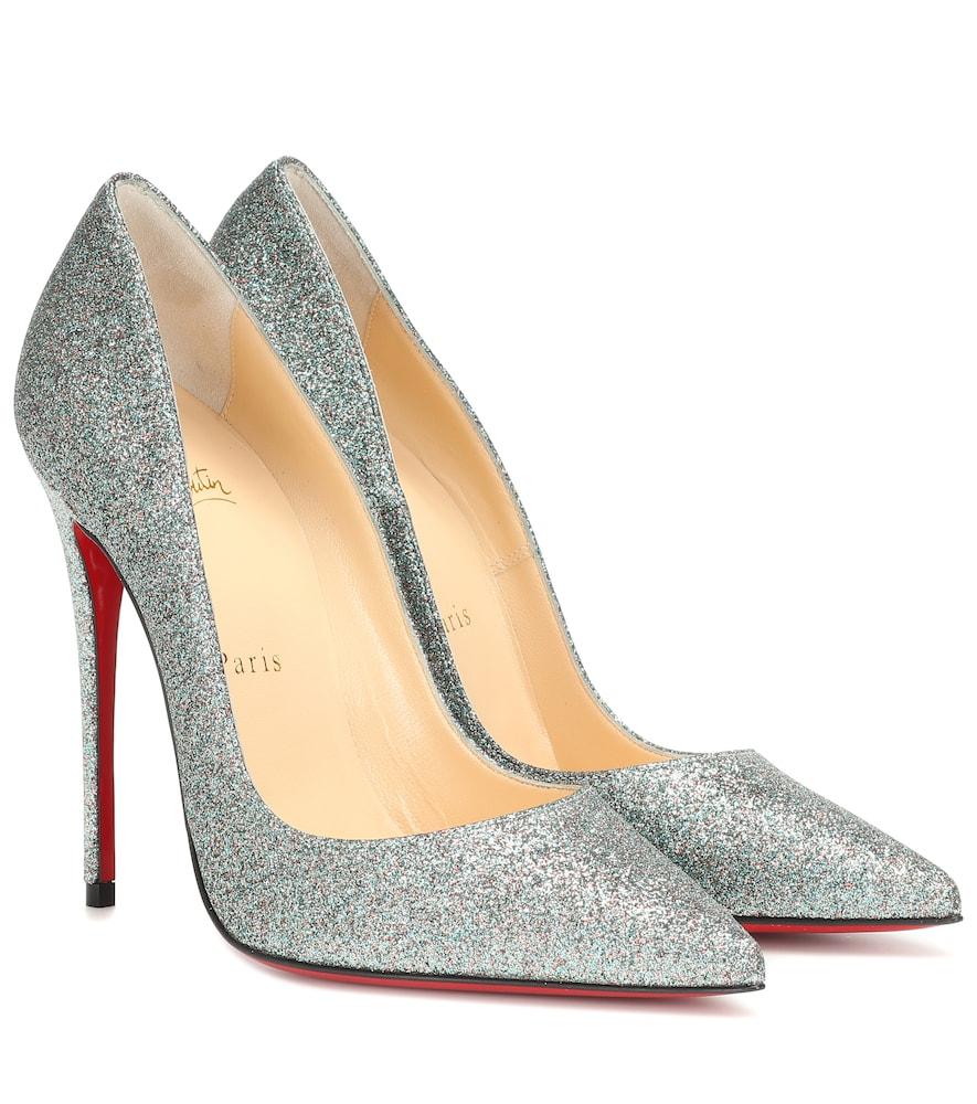 size 40 a498e 0097e So Kate Glitter Pointy Toe Pump in Silver