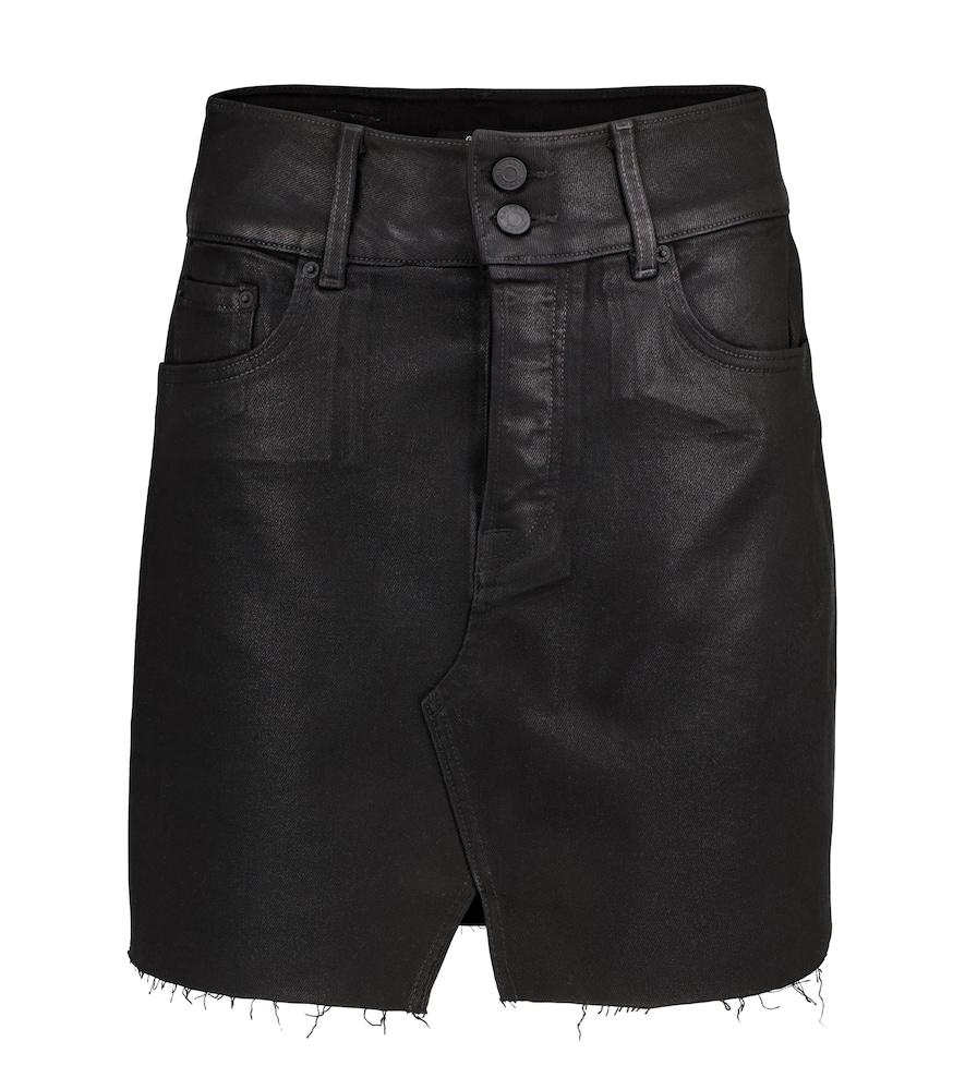 Evie high-rise denim miniskirt