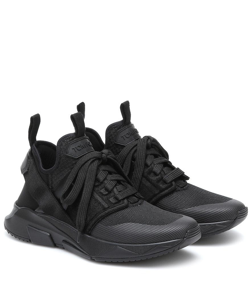 Jago leather and mesh sneakers