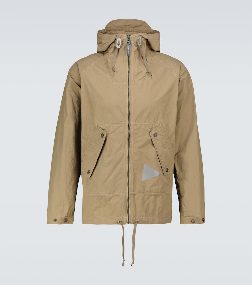 Nylon taffeta hooded jacket