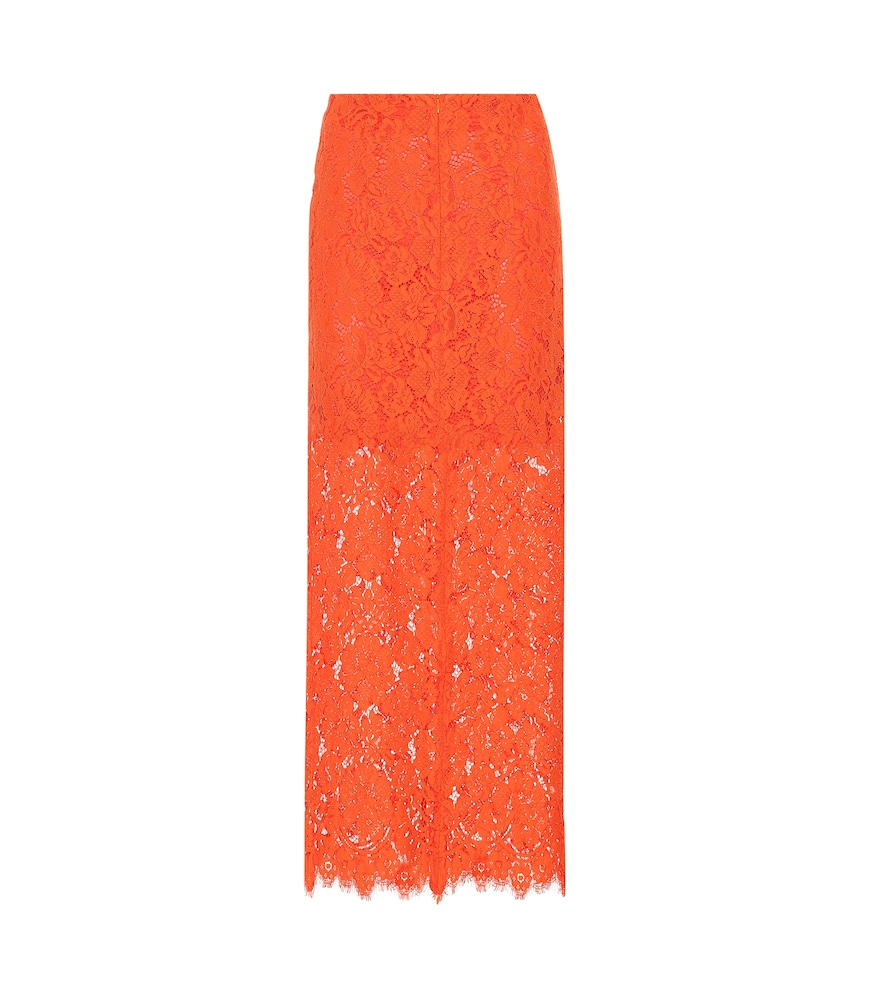 Jerome Lace Maxi Skirt, Red