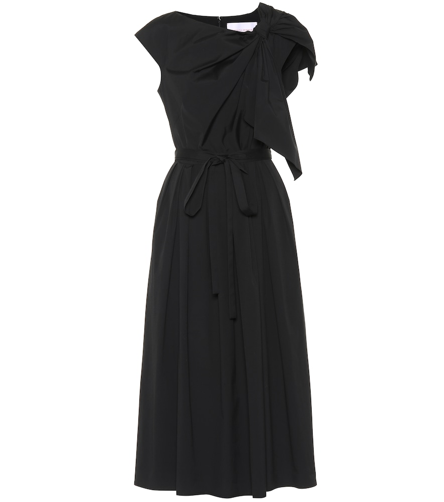 Carolina Herrera COTTON-BLEND MIDI DRESS