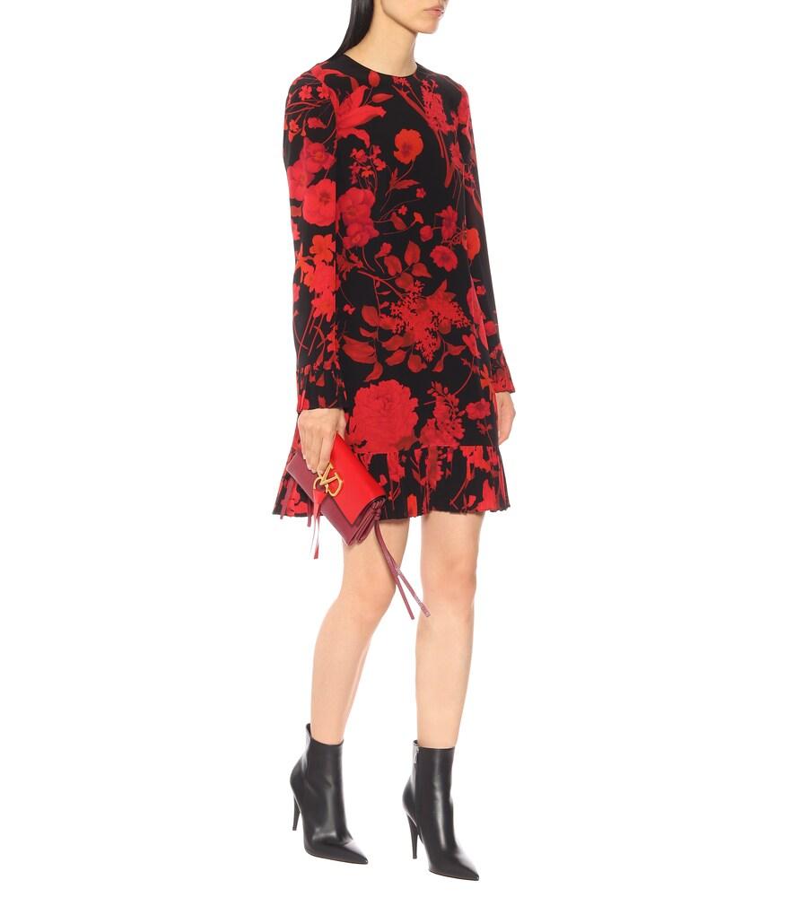 Floral cr?e de chine dress by Valentino