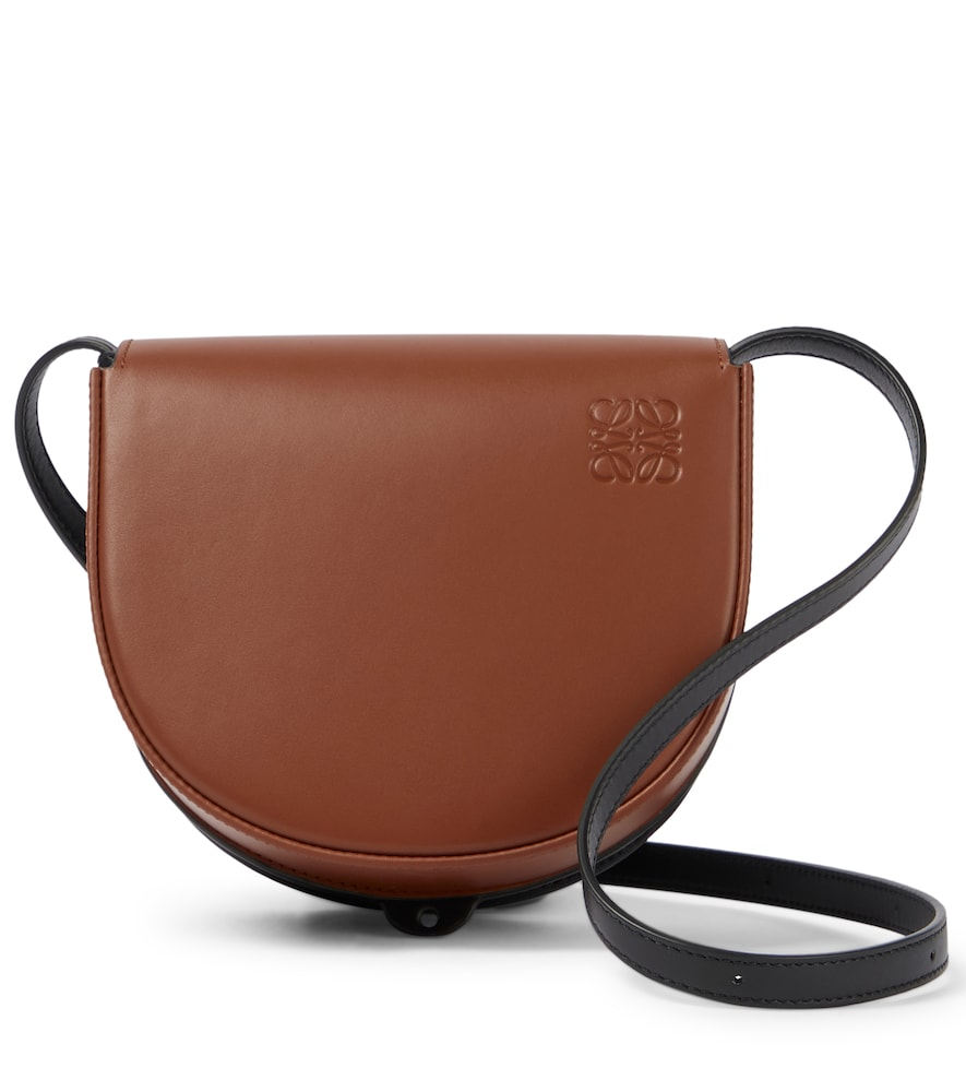 Heel Duo leather crossbody bag