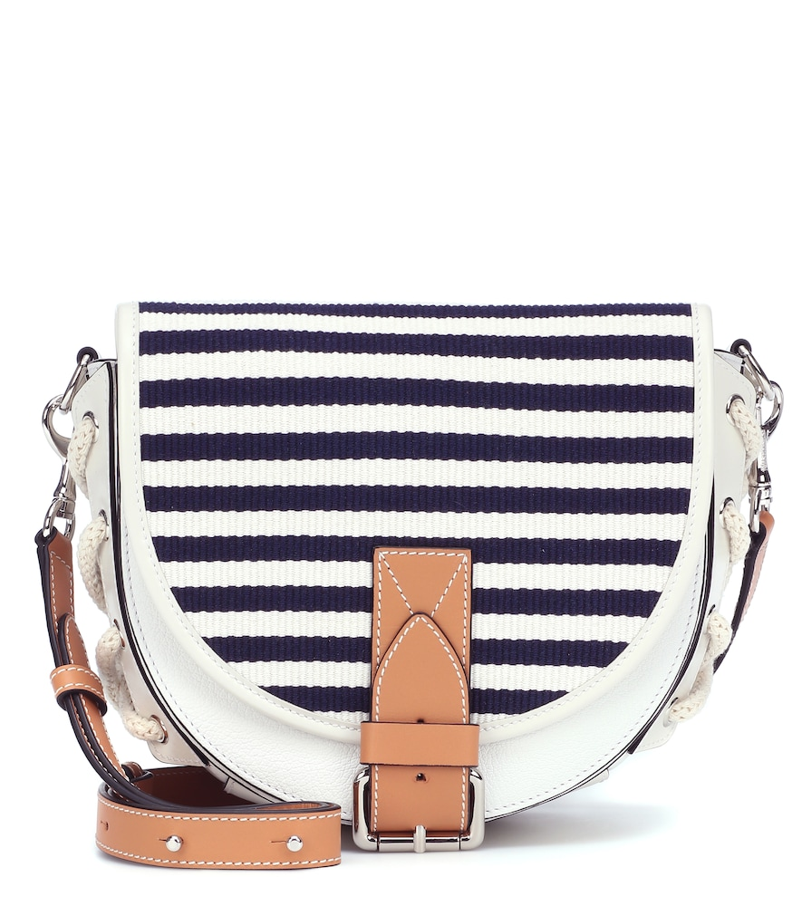 JW ANDERSON BIKE LEATHER AND CANVAS CROSSBODY BAG