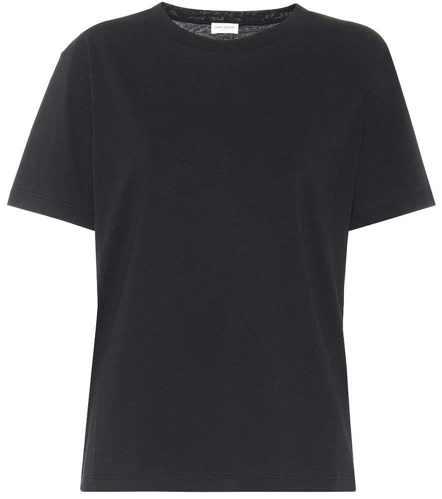 Saint Laurent Cotton-jersey T-shirt In Black