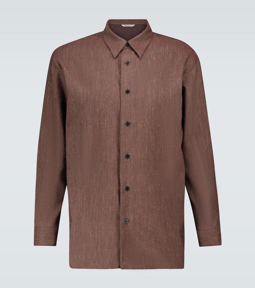 Wool and linen twill shirt