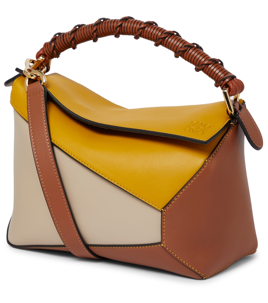 Puzzle Edge Small leather shoulder bag