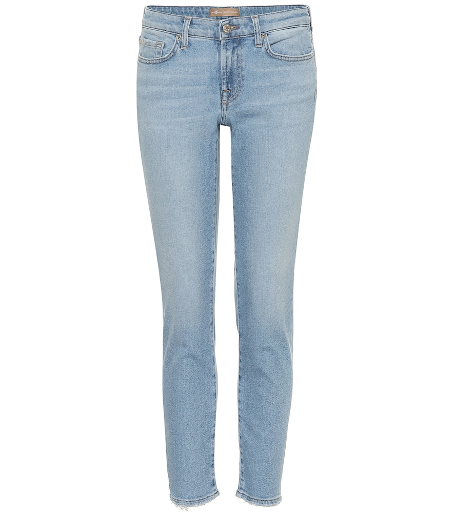 7 FOR ALL MANKIND | Pyper cropped mid-rise skinny jeans | Goxip