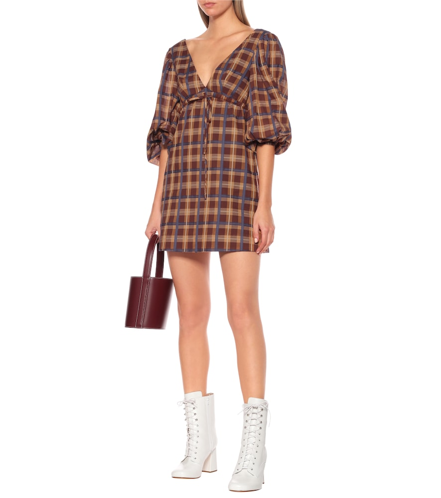 Exclusive to Mytheresa – Keshi checked cotton-blend minidress by Staud