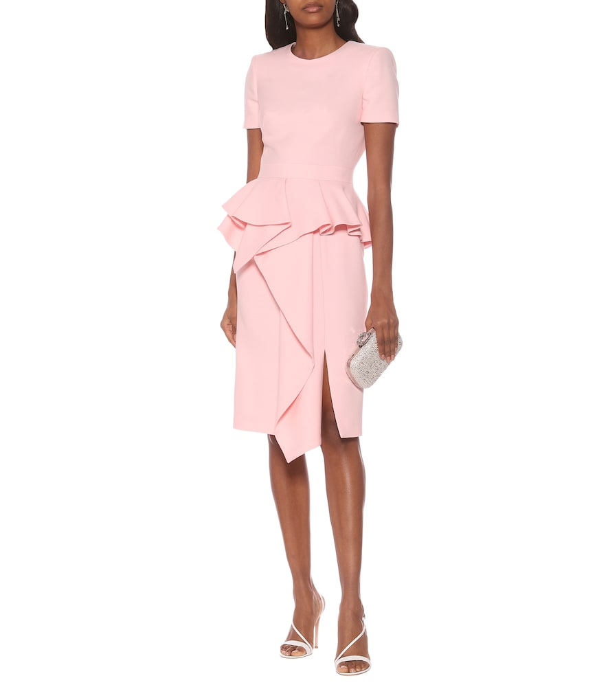 Wool and silk-blend midi dress by Alexander McQueen