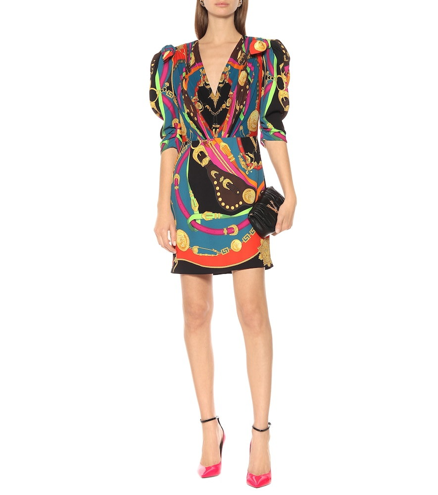 Barocco Rodeo printed minidress by Versace