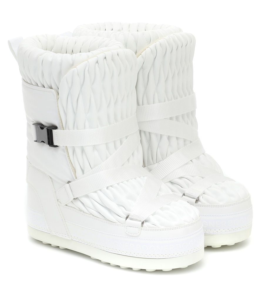 Bogner Tignes Quilted Snow Boots In White