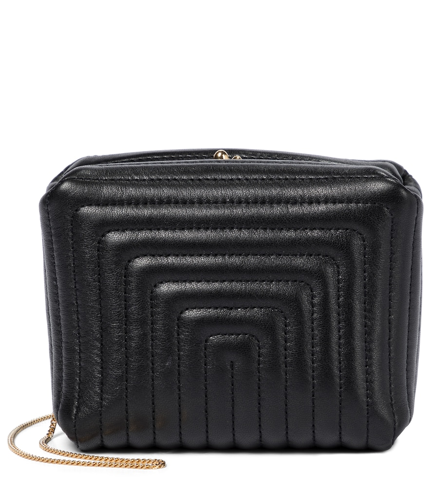 Jil Sander Leathers QUILTED LEATHER CLUTCH