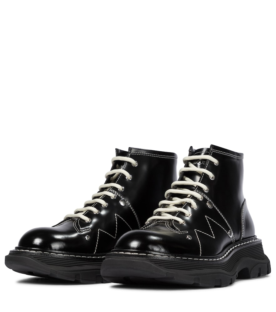ALEXANDER MCQUEEN Ankle highs TREAD LEATHER ANKLE BOOTS