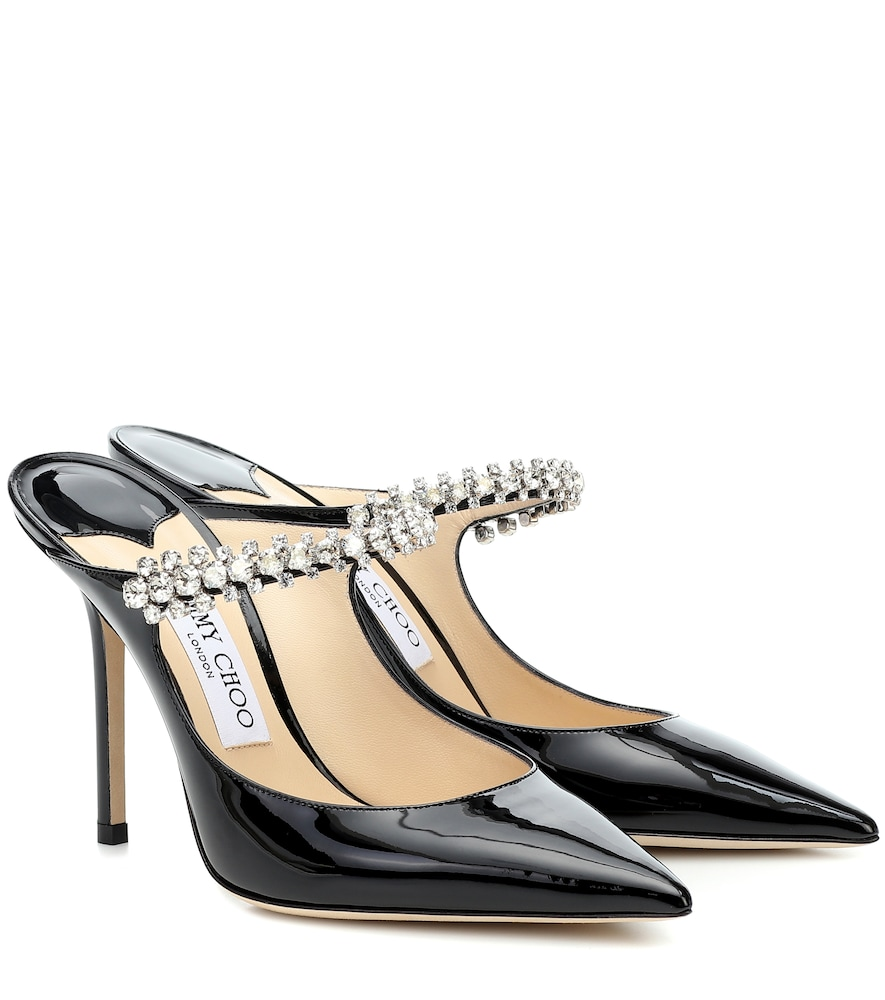 Jimmy Choo Mules Bing 100 patent leather mules