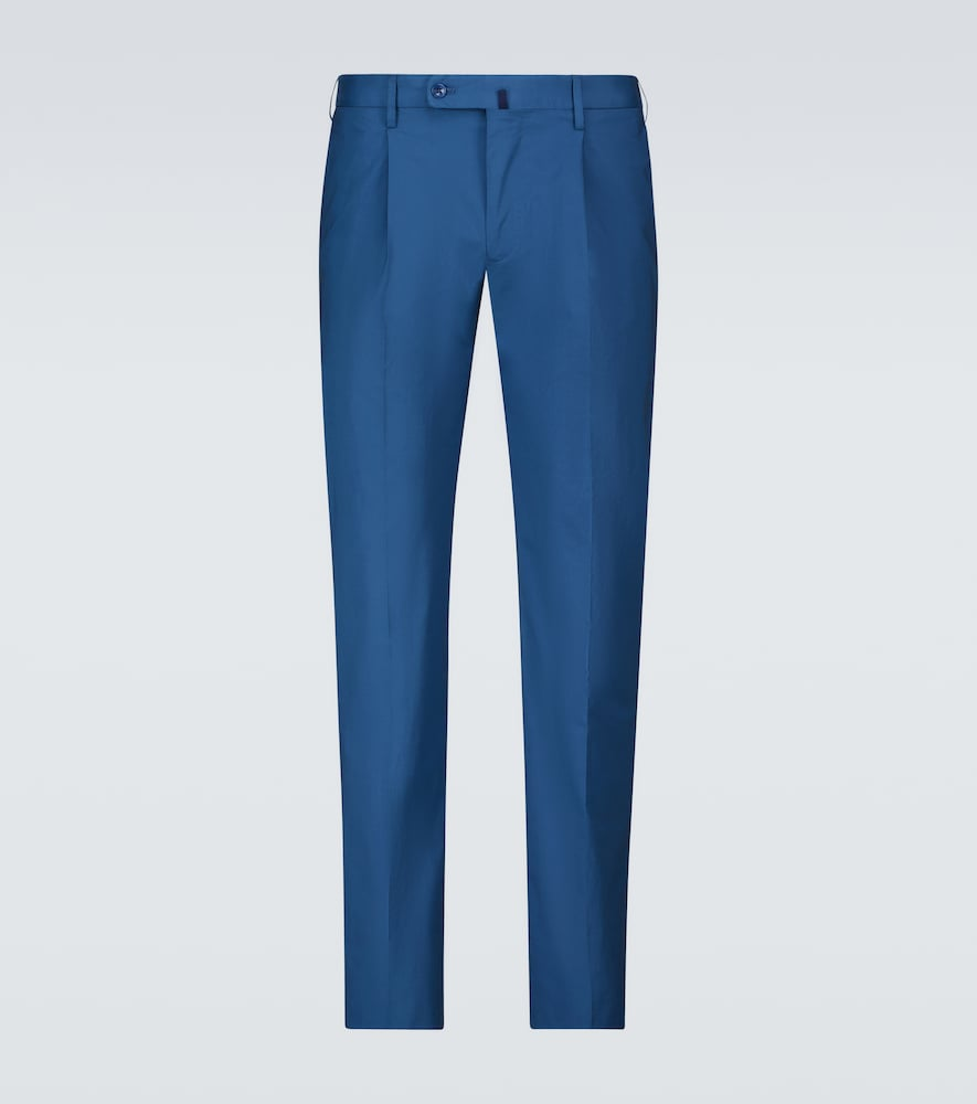 Incotex Stretch-cotton Casual Pants In Blue