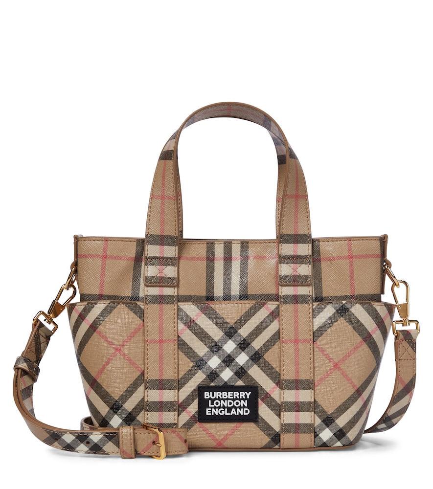 Vintage Check coated canvas tote