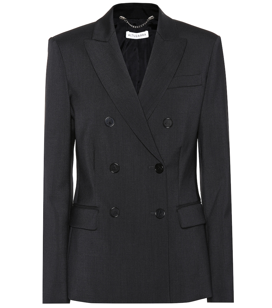 Altuzarra Indiana Virgin Wool Double-Breasted Blazer In Black
