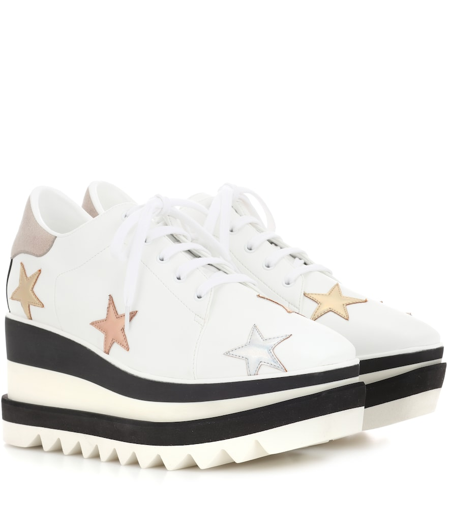 Sneak-Elyse Platform Sneakers in White