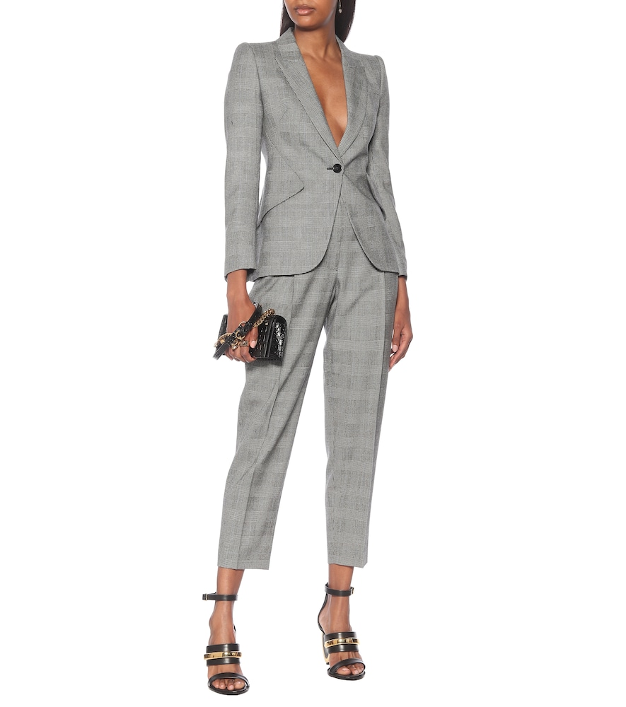 Checked wool and cashmere blazer by Alexander McQueen