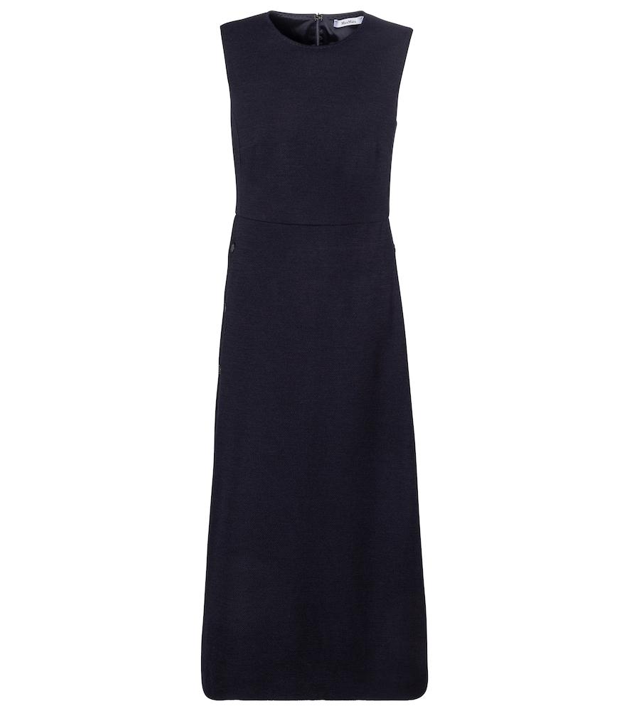 Lindsey wool and cotton midi dress by Max Mara