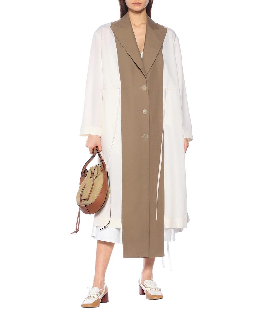 Asymmetric virgin-wool coat by Loewe