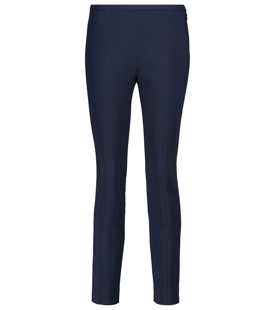 The Row SOTTO HIGH-RISE SLIM CADY PANTS